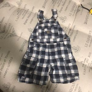 Oshkosh B'gosh blue plaid overalls size 24 months